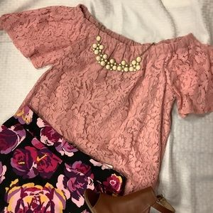 Chance or Fate Off the shoulder Lace Blouse